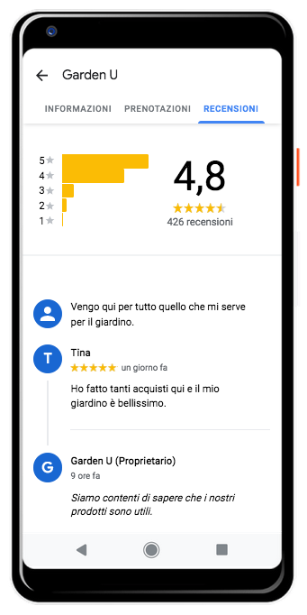 recensioni google my business