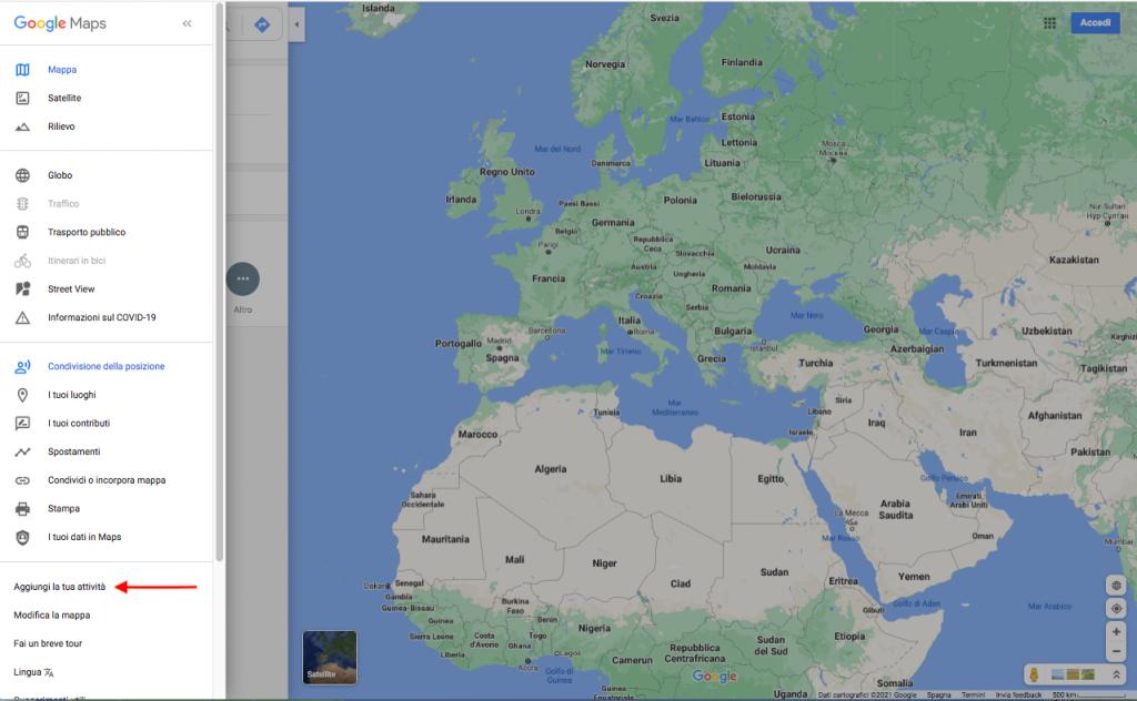 azienda su google maps